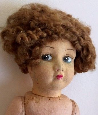 Vintage-Curly-Hair-Lenci-Girl-Doll-20-inches-Needs