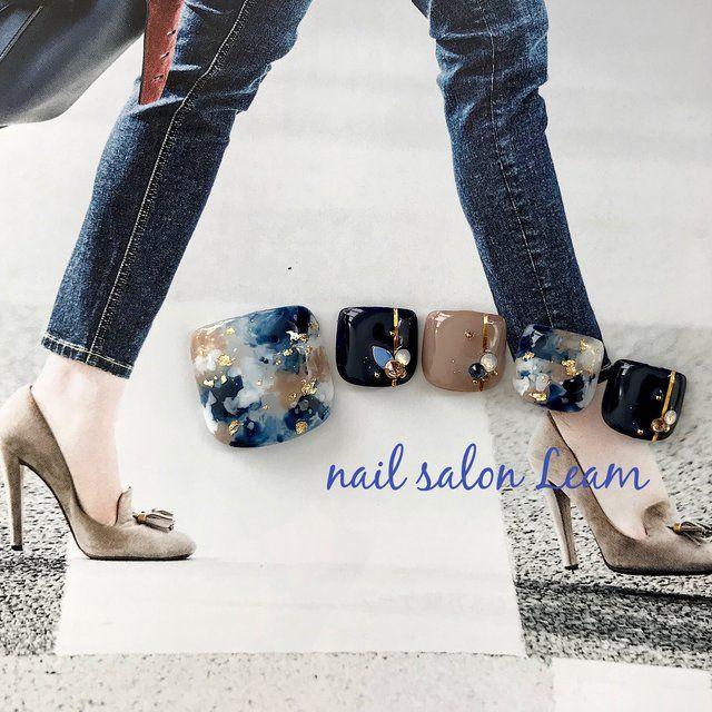 秋/冬/パーティー/旅行/フット - nail  salon Leamのネイルデザイン[No.2653351]|ネイルブック