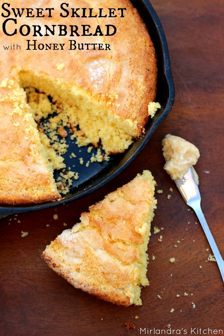 This recipe for moist and sweet skillet cornbread is always a winner ...