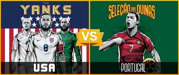 GRUPO H / #EUS vs #POR (2 - 2) / 22.06.14 / Arena Amazonia (Manaos)