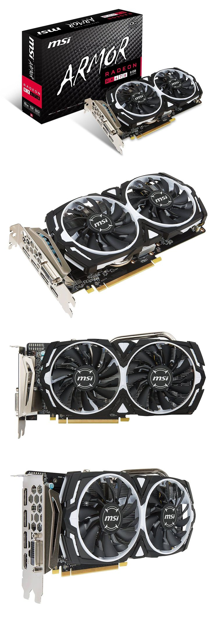 computer parts: Msi Gaming Radeon Rx 470 Armor 8G Oc 8Gb Gddr5 Pci-E 3.0X16 Mining Graphics Card -> BUY IT NOW ONLY: $349.99 on eBay!