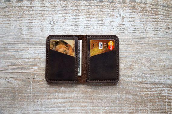 Wallets for men Front Pocket Design Minimalist by Handor on Etsy