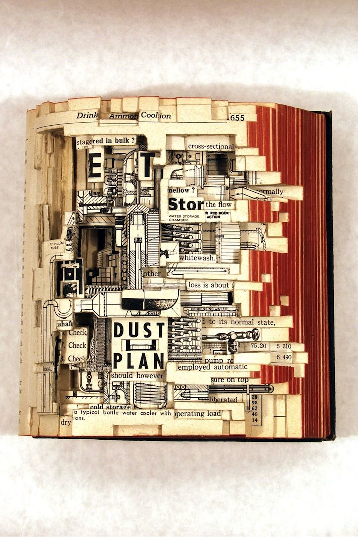 Brian Dettmer's altered book art. Amazing.
