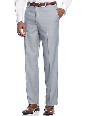 SEAN JOHN Big & Tall Dress Pants 44W x 32L Blue Flat Front Suit-Separates $120