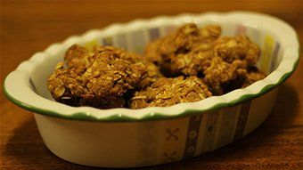 Authentic Anzac biscuits, ABC. Recipes from the Australian War Memorial include:   The following recipe (without coconut) was published in The Capricornian (Rockhampton, Queensland) on Saturday, 14th August 1926.  Ingredients   2 cups rolled oats  1/2 cup sugar 1 cup plain flour 1/2 cup melted butter 1 tbls golden syrup 2 tbls boiling water 1 tsp bicarbonate soda (add a little more water if mixture is too dry) Method  Combine dry ingredients. Mix golden syprup, boiling water and bicarbonate…