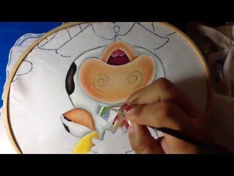 Pintura en tela en este vídeo te enseño a pintar la cara de becerrito...a continuación te comparto el enlace donde podras encontrar este diseño..https://www....