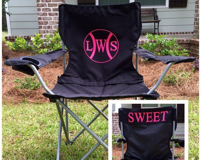 Monogrammed Camp Chair Custom Folding Chair Bag Chair