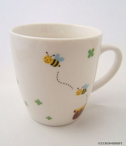 Clover Honey Bee Cute mug cup-Japanese kawaii cute kitchen Home | Flickr - Photo Sharing!