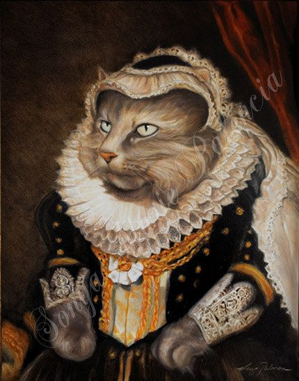 Best Cats Art As People Historical Images On - Game of thrones pet paintings