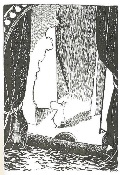 """""""Hän kiipesi uuteen kotiinsa ja katseli ympärilleen. Hieman huolimatonta väkeä he olivat olleet, sen näki heti. Mutta kukapa ei olisi. Ja säilyttäneet kaikenlaisia vanhoja esineitä. Sääli seinää, joka oli tipahtanut pois, mutta eihän se tietenkään paljon haitannut näin kesällä..."""" Vaarallinen juhannus"""