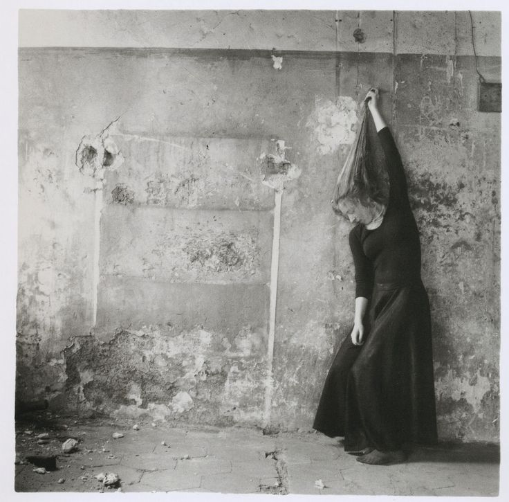Francesca Woodman, an amazing photographer/self-portrait artist, who, sadly, committed suicide. ~ETS