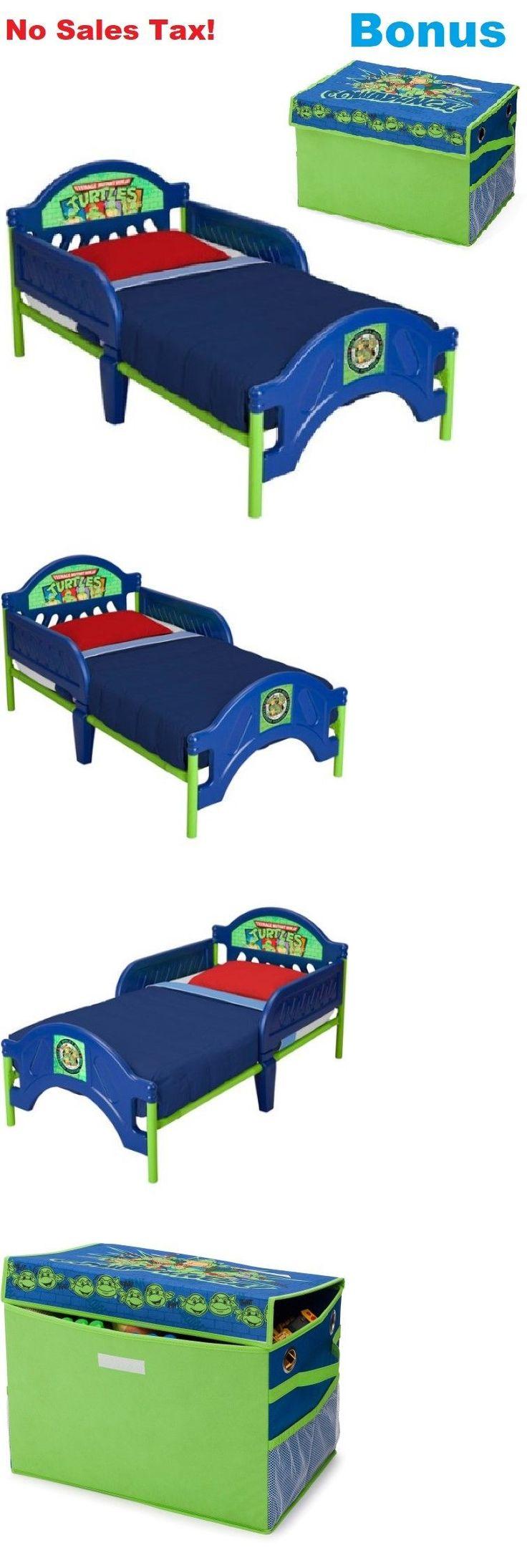 Bedroom Furniture 66742: Toddler Bed W Bonus Collapsible Toy Box Teenage Mutant Ninja Turtles Kids New -> BUY IT NOW ONLY: $79.99 on eBay!