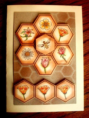 #hexagon punch #honeycomb embossing folder #stampin up