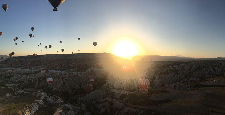 Nevşehir/Kapadokya Balon Turundan günbatımı manzarası :)