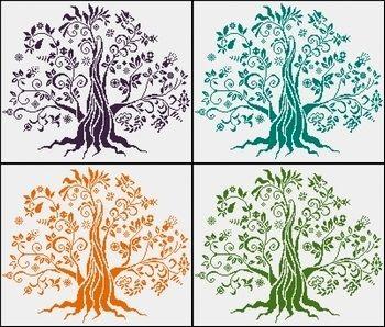 kanaviçe modelleri, etamin örnekleri Hayat ağacı #goblen #etamin #kanavice #goblenci