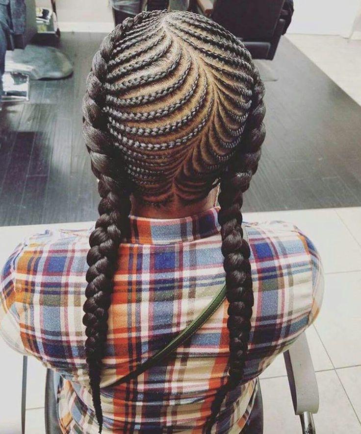 Fishbone braids little girls hairstyle
