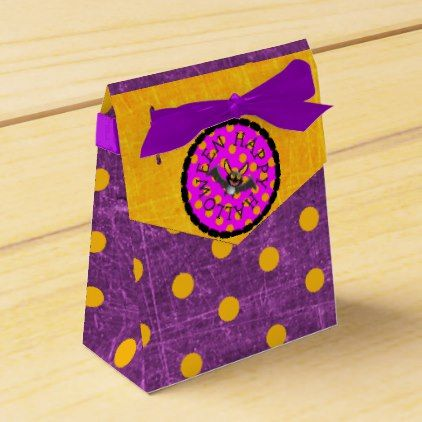Happy Halloween Black and Purple Party Favor Bags Favor Box - stripes gifts cyo unique style