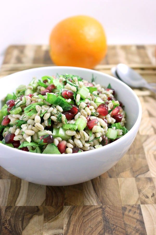 Barley and Pomegranate Salad | firsttimefoods.com