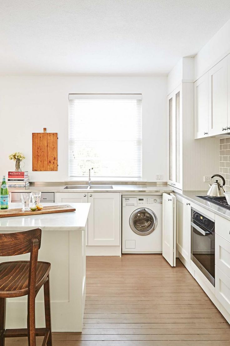 17 best images about small spaces on pinterest terrace for Laundry kitchen ideas