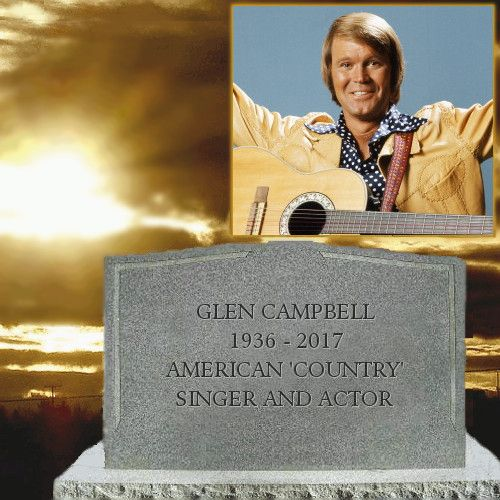 Glen Campbell   Tombstones And Cemeteries in 2019   Famous ...