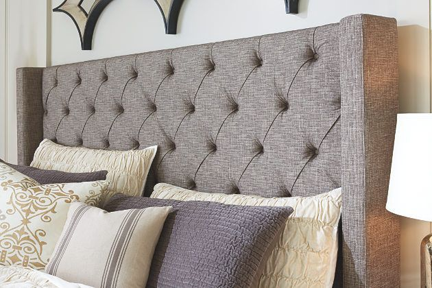 Gray Sorinella Queen Upholstered Bed View 5