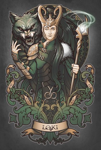 House of Loki: Sons of Mischief Art Print--'Love Medusa Dollmaker. Sweet girl!