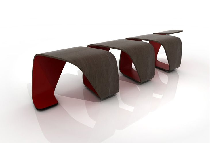 Inspired by the dynamic forms of biogenetics designers Leonardo Rossano and Deborah Mansur designed the DNA Bench.
