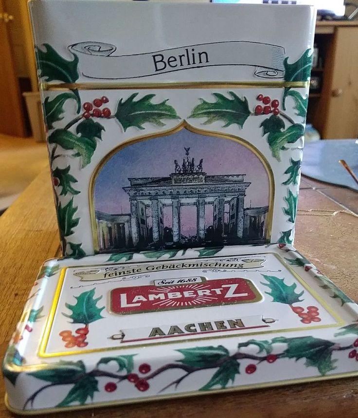 "Lambertz AACHEN Tin musical Box made  Germany Plays ""White Christmas""  tin only  #Lambertz"