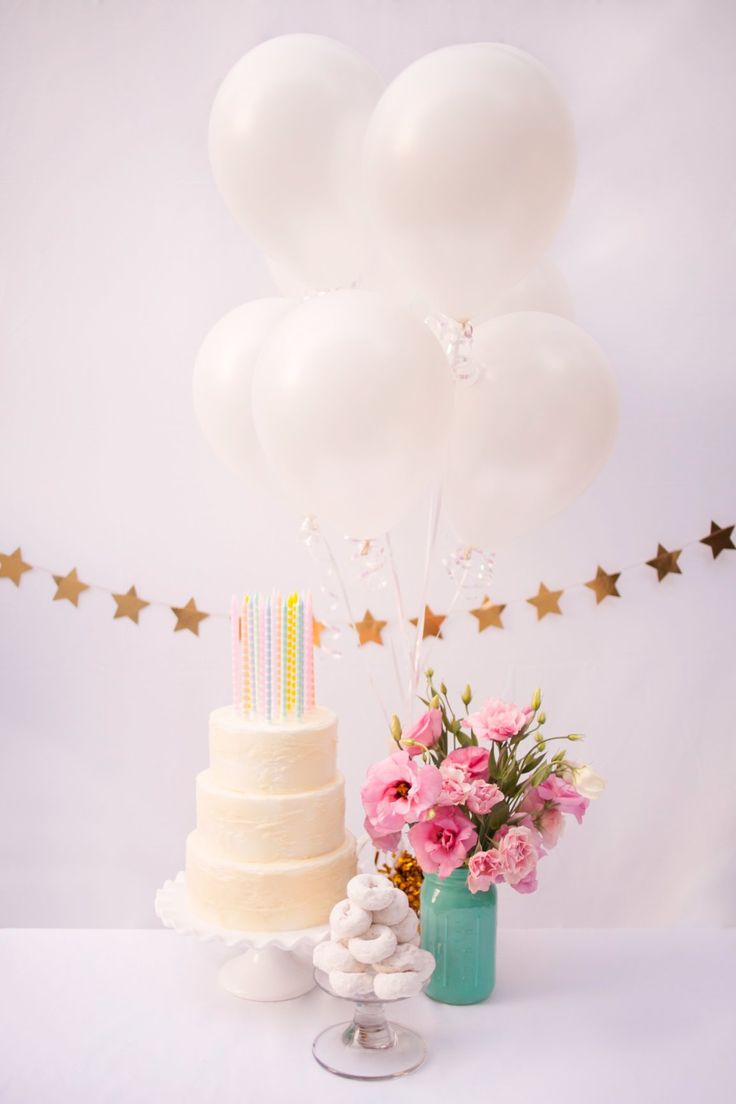 Elegant white balloons- beautiful for any occasion.