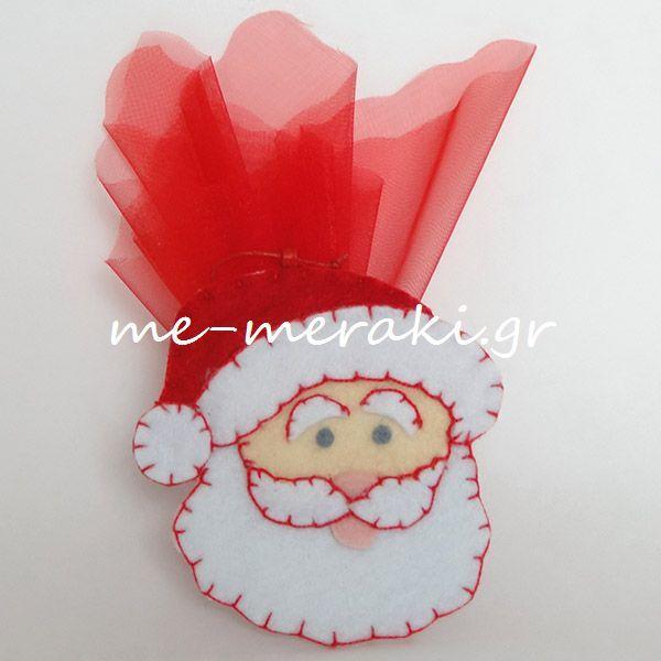 Handmade mpomponiera Me Meraki Mpomponieres Χειροποίητη μπομπονιέρα βάπτισης, τσόχα στολίδια κρεμαστά για το χριστουγεννιάτικo δέντρο. Με Μεράκι Μπομπονιέρες Μπομπονιέρα Βάπτισης μπομπονιέρες βάπτισης www.me-meraki.gr  ΥΦ068-Α