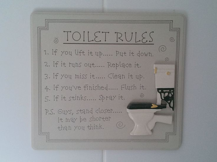 bathroom cleanliness rules | ... Tags: funny pictures ...