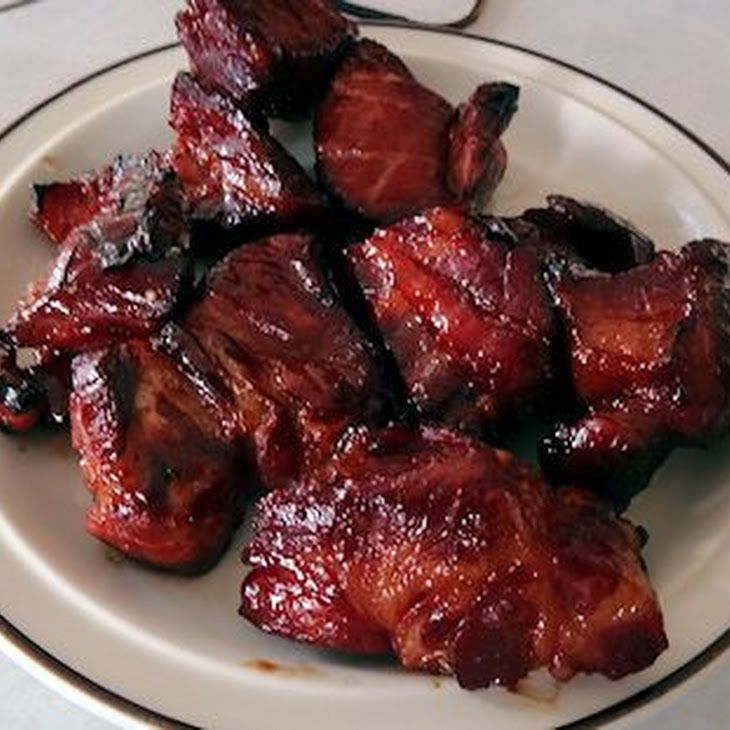 Char Siu Pork Recipe Main Dishes with boneless pork shoulder, soy sauce, hoisin sauce, five spice, Sriracha, brown sugar, red food coloring