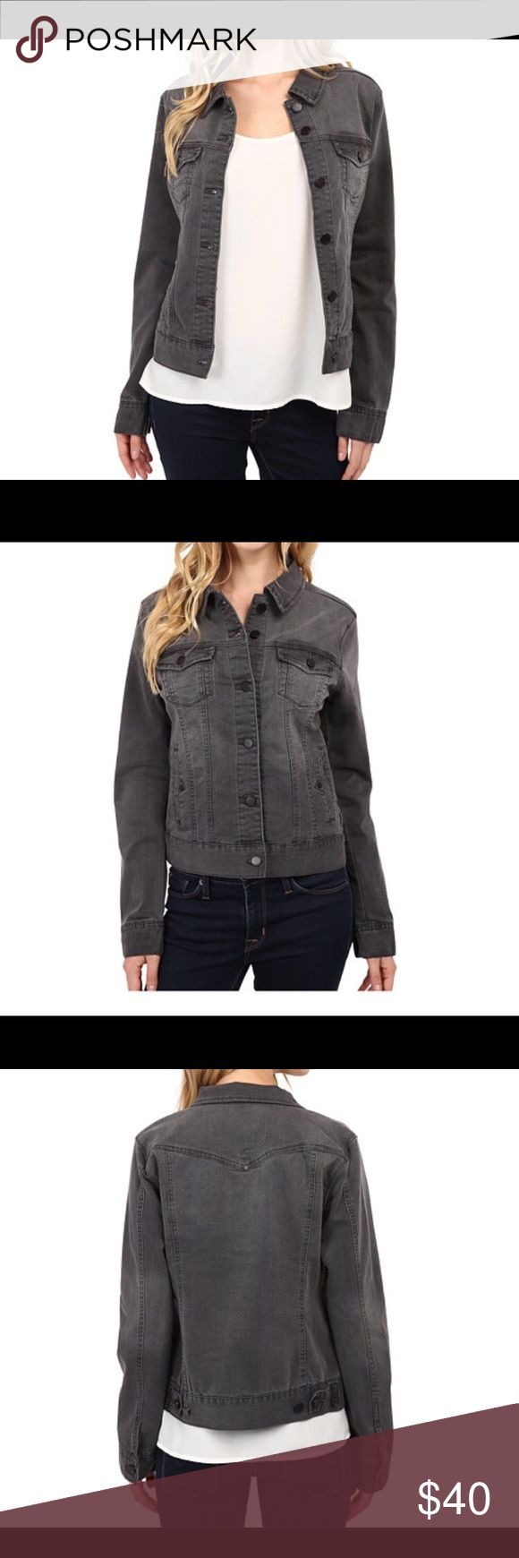 Liverpool grey denim jacket Worn once! Liverpool grey jean jacket. Pockets and falls at the hips. Size small but would also fit a medium Liverpool Jeans Company Jackets & Coats Jean Jackets