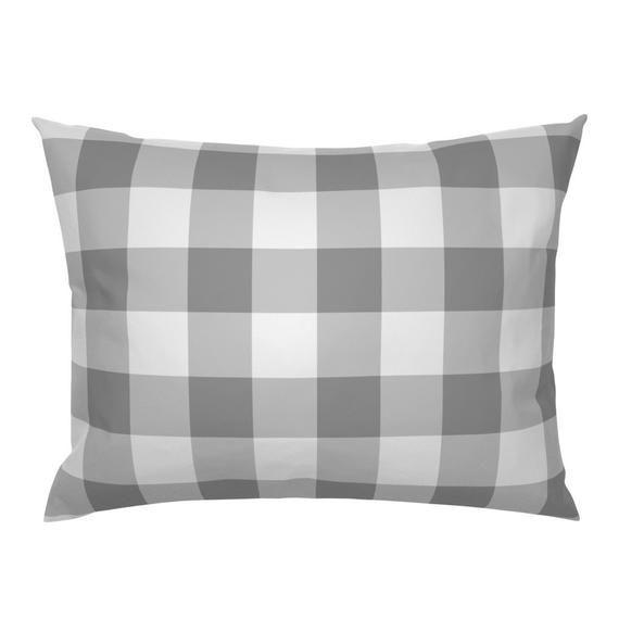 Gray Plaid Pillow Sham Grey Buffalo Check By Aacraven85 Buffalo Check Grey White Plaid Cotton S In 2020 Pillow Shams Pillows Sham Bedding