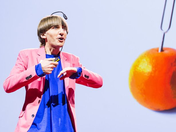 Artist Neil Harbisson was born completely color blind, but these days a device attached to his head turns color into audible frequencies. Instead of seeing a world in grayscale, Harbisson can hear a symphony of color — and yes, even listen to faces and paintings.