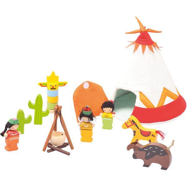 Kreatywny namiot indiański #creative #tipi #kids #fun #wooden #toys #gifts  http://www.mojebambino.pl/zestawy-do-zabaw-swobodnych/3480-mini-tipi-i-wioska-indianska.html