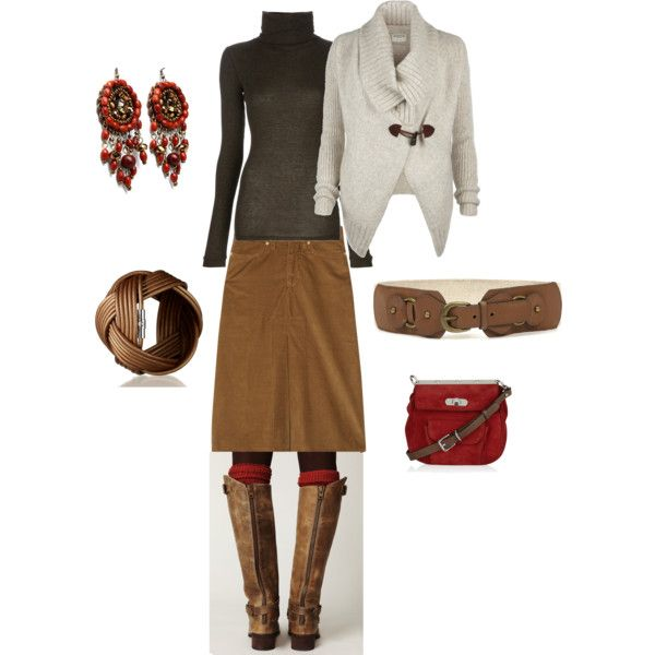 Love the sweater and the boots: Teacher Outfits For Winter, Winter Work Outfits, White Sweaters, Cozy Outfits, Clothing Styl, Skirts Boots, Corduroy Skirts Outfits, Skirts Dresses, Skirts Work