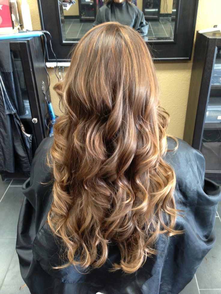 Natural Brown Hair With Blonde Lowlights Hair Color