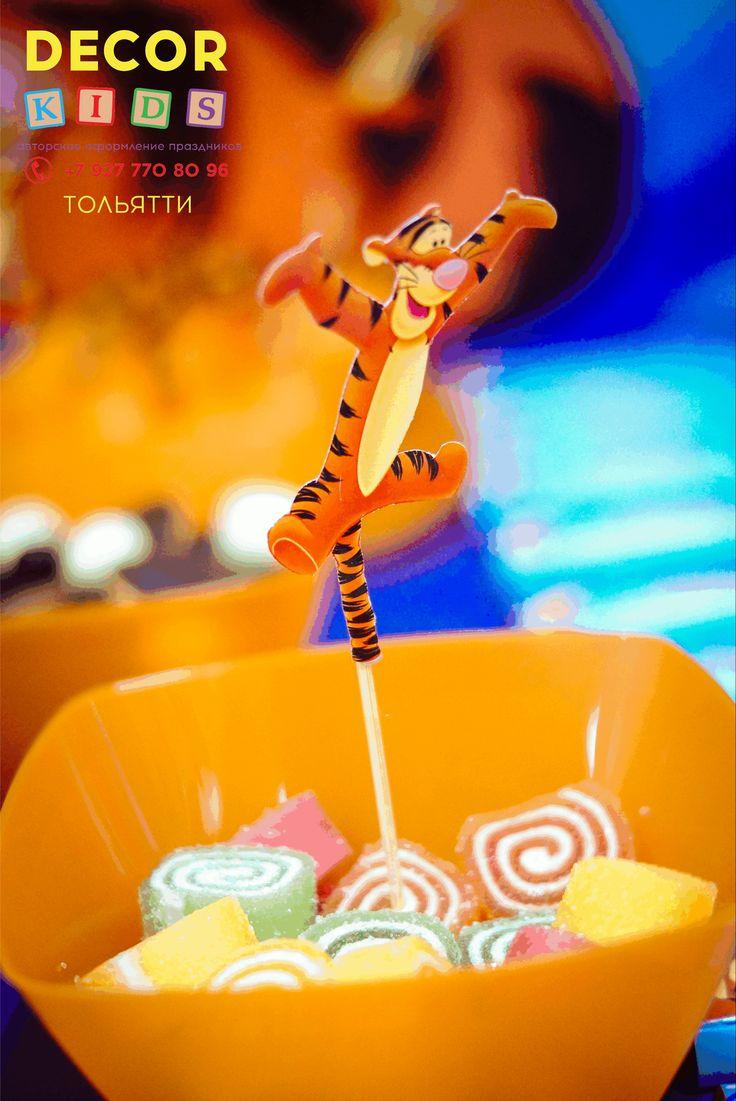 #candybar #Tiggerparty #Tigger #birthday #topper #decorkids