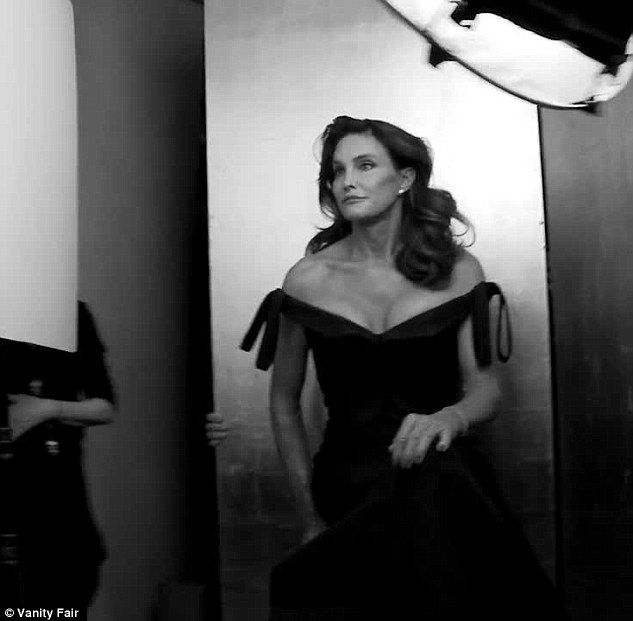 Behind the scene: Seen here in an outtake from a Vanity Fair video of the photoshoot in progress wearing a Zac Posen dress <3 <3