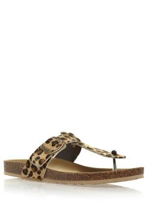 a0dc1607abf5 Leopard Footbed Sandals | Print and Pattern | Pinterest