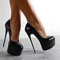 Wholesale Platform High Heel Shoes for Ladies Summer Style Black Stiletto Heel Shoes Round Toes Designer Dress Shoes for BLP1001