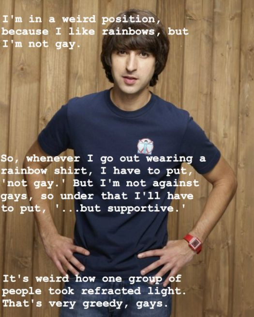 Demetri Martin...knowing how he delivers a joke makes this even funnier.