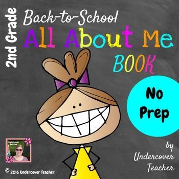 "This Back to School/Beginning of Year Second Grade (2nd) ""All About Me"" Book makes a great writing and drawing journal for your incoming 2nd grade students. Great for writing time, stations or centers, or as a family homework project! NO PREP!This ""All About Me"" Book has:*Lots of room for drawing pictures*Spaces for inserting photos, if desired*Room for young writers to write words*Areas to color*Includes 2 word searches and a word ladder, in addition to writing pages!*Includes a goal…"