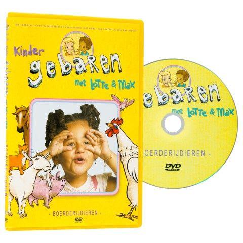 Lotte en Max dvd 'boerderijdieren'. Alle dieren van de boerderij leer je spelenderwijs met deze dvd.