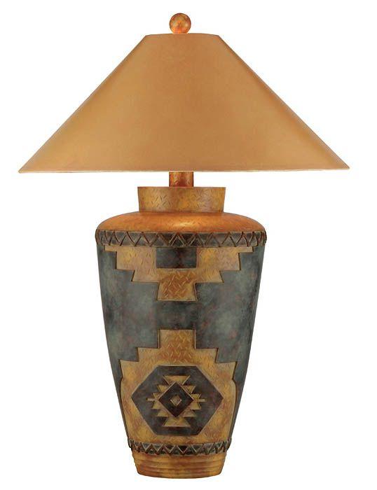 southwest table lamps | Southwestern Lamps, AP-9474-WD Southwestern Style Table Lamp