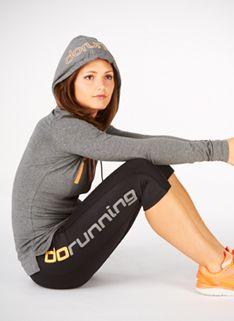 Women's do Run Outfit 40 - Womens Running Clothing - Charcoal/Orange/Black