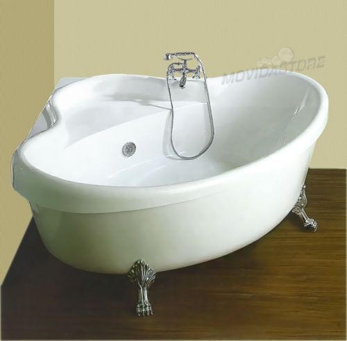 dettagli su vasca da bagno ad angolo angolare vasche cm 160x160 vittoriano retr piedi leone