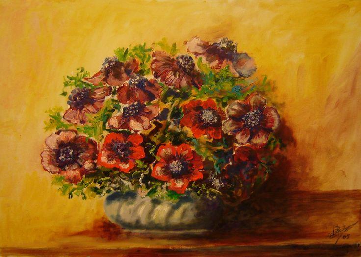 Anemoni rossi 35x50