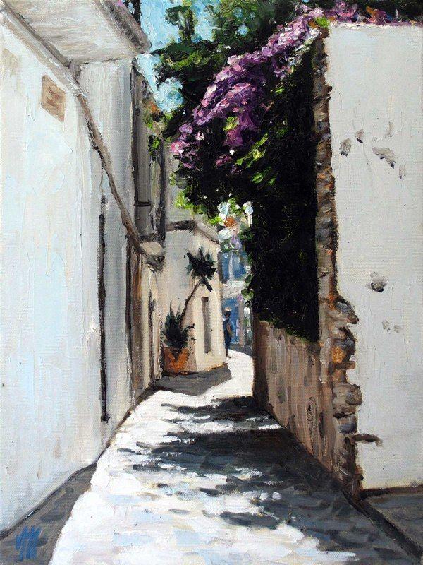 Ibiza old city | painting by Richard van Mensvoort